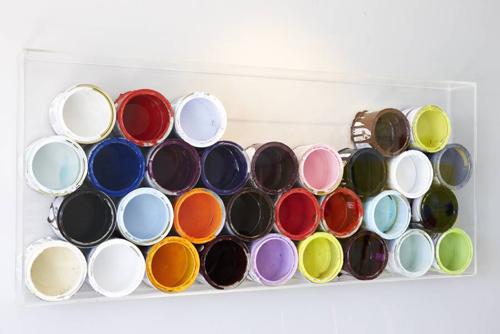botes reciclados de pinturas